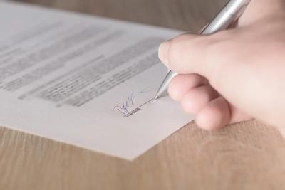 Lainan allekirjoitus